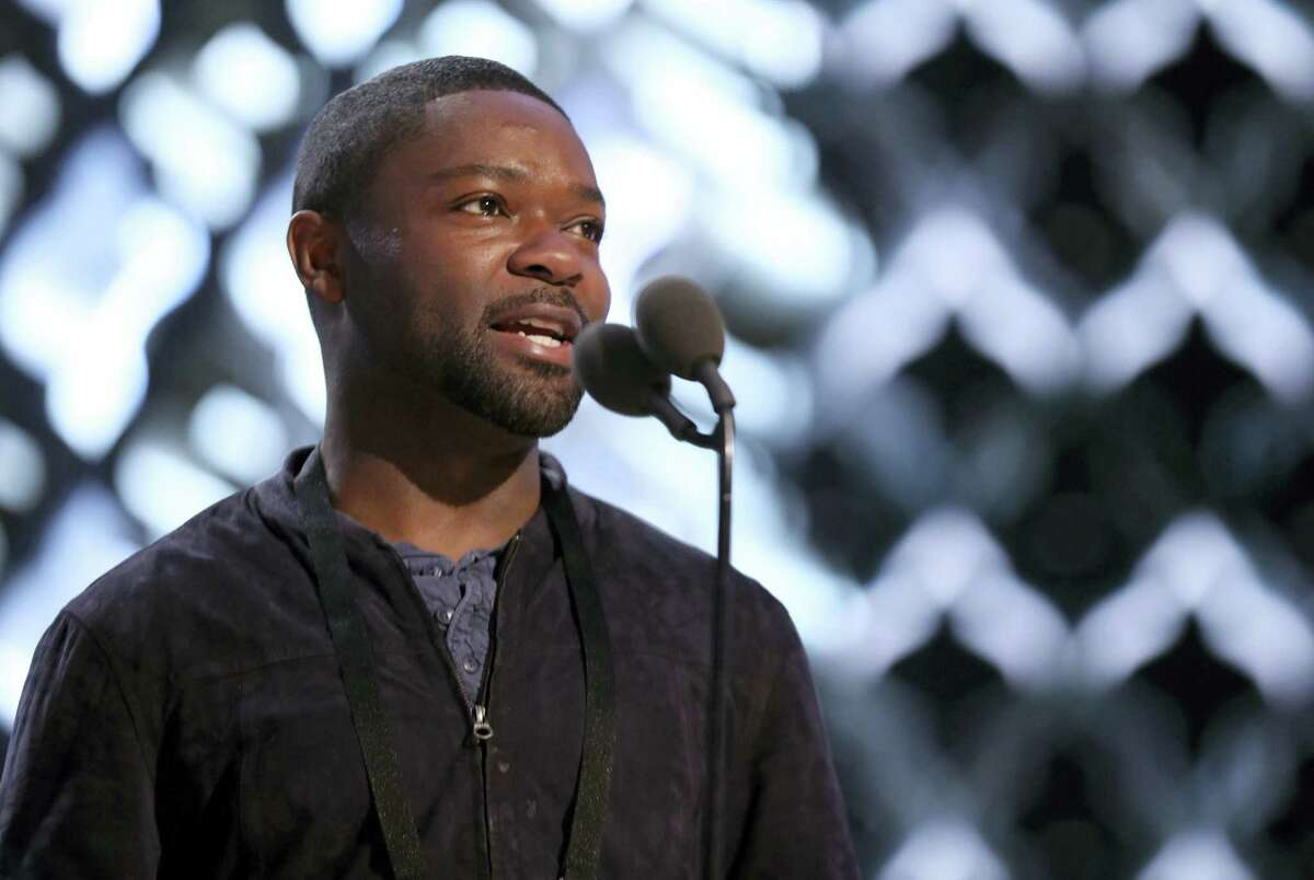 David Oyelowo appears during a rehearsal for the 89th Academy Awards on Feb. 25, 2017. The Academy Awards will be held at the Dolby Theatre on Sunday.