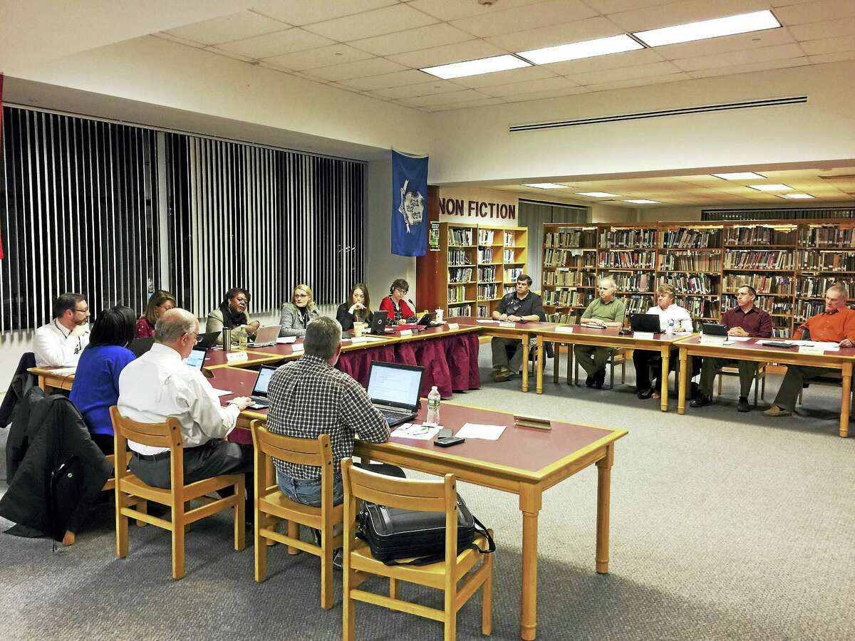 Ben Lambert - The Register Citizen The Torrington Board of Education discussed initial suggestions for the redistricting of city schools.