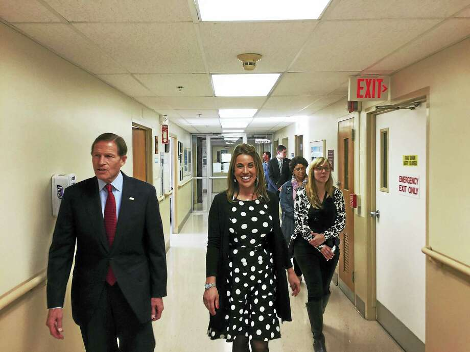 Ben Lambert - The Register CitizenSen. Richard Blumenthal toured the VA Outpatient Clinic in Winsted Thursday afternoon, along with Kimberly Phaneuf, nurse manager with the Connecticut VA. Photo: Digital First Media