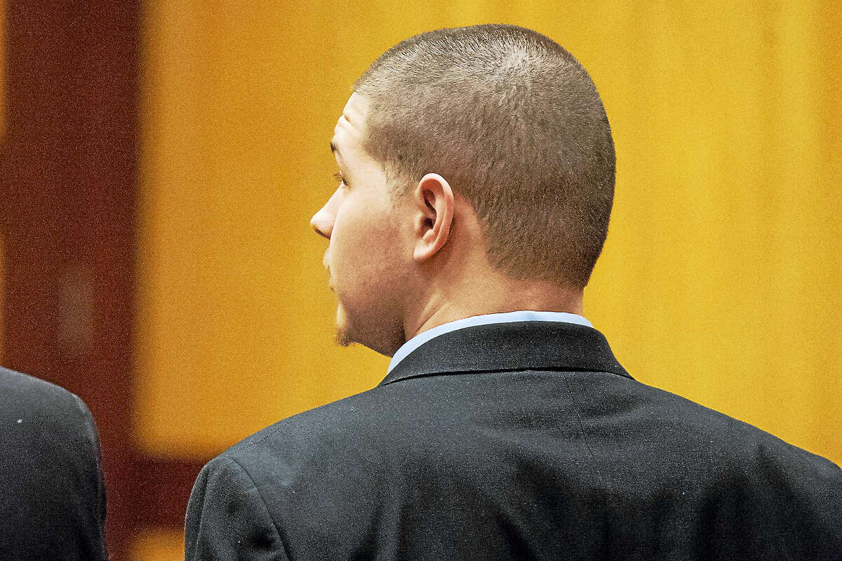 Tony Moreno looks to the jury as his guilty verdict is read by the jury forewoman in Middlesex Superior Court Wednesday.