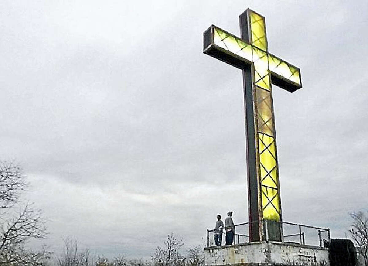 This is the Holy Land cross as it looked before renovations.