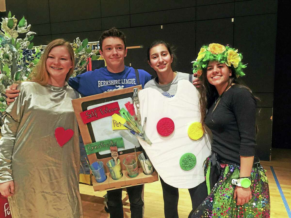 Lewis S. Mills High School team members, from left, are Tanya Weingart, Aidan O'Connor, Alisha Petrosky and Lucy Gottfried.