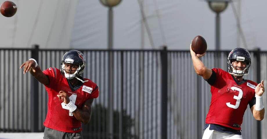 PHOTOS: Five things to watch vs. SaintsQuarterbacks Deshaun Watson and Tom Savage are among John McClain's five things to watch in the Texans' upcoming preseason game. Photo: Brett Coomer/Houston Chronicle