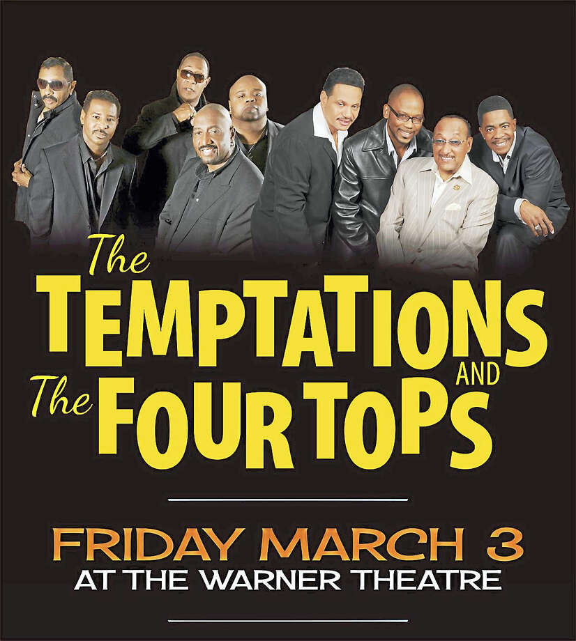 Contributed photoThe Temptations and the Four Tops are coming to the Warner Theatre for one performance on Friday, March 3. Photo: Digital First Media