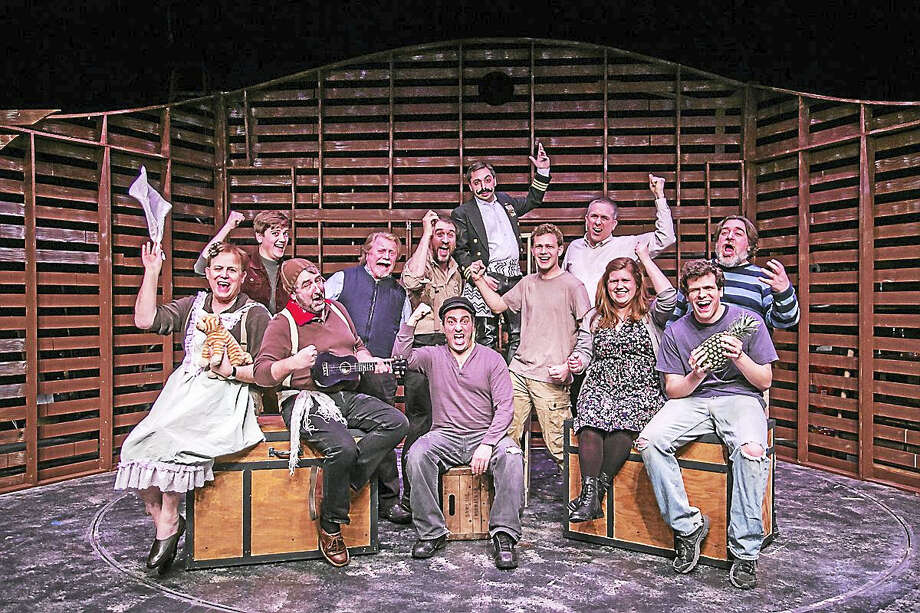 Contributed photoThe cast of Peter and the Starcatcher are ready to put on the show at TheatreWorks New Milford. Photo: Digital First Media