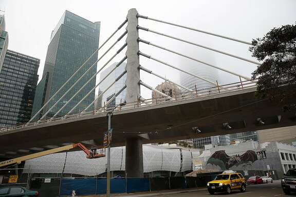 View of the new bus bridge at Transbay Transit Center soon to be completed on Thursday, August 24, 2017, in San Francisco, Calif.