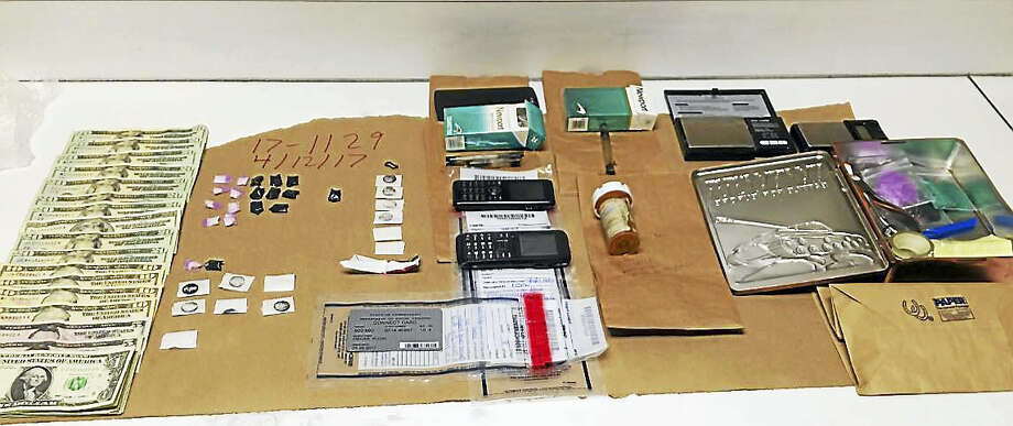 Detectives seized heroin, crack cocaine, digital scales, a drug ledger, cutting agents and packaging material from a home at 356 Migeon Ave. Photo: Courtesy Torrington PD