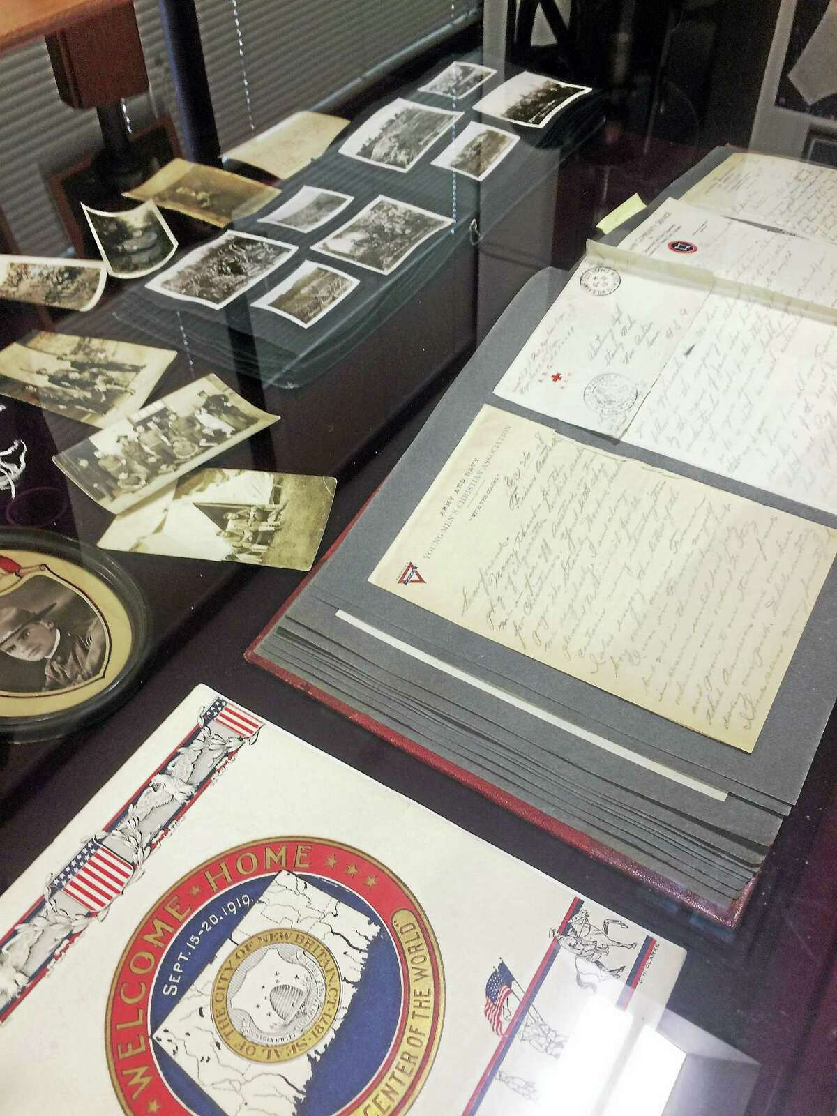 Original letters from WW I soldiers, who worked at Stanley Works in New Britain.