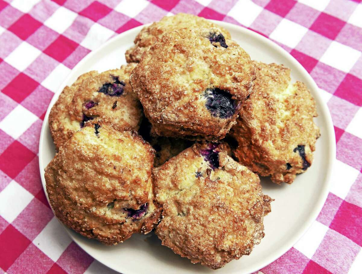 Blueberry scones photographed at Jones Family Farms' Harvest Kitchen in Shelton.
