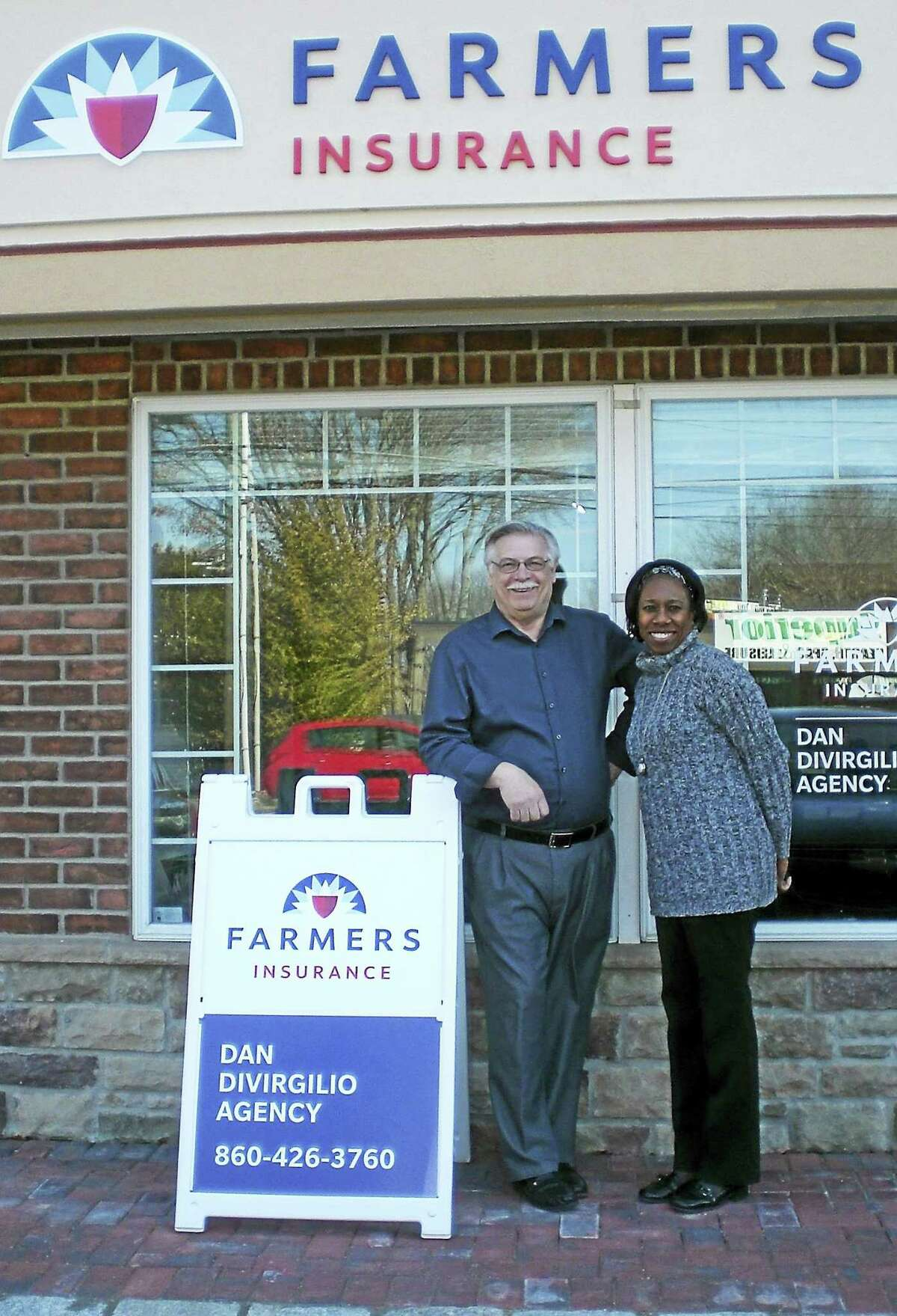 Dan DiVirgilio has opened the new Farmers Insurance Dan DiVirgilio Agency LLC at 1460 Meriden-Waterbury Turnpike in Southington. Working with DiVirgilio is licensed producer Janice Mitchell-Smith. The agency offers auto, homeowners, life, business insurances plus retirement funding and special discounts to veterans, U.S. military personnel, fire and police personnel, teachers, medical professionals, and special packages for business owners.
