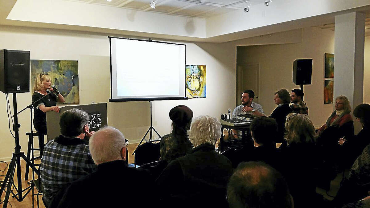 """Art dealer Jane Coats Eckert of Eckert Fine Art gallery in Kent presented """"An Art Dealer's Look on How to Collect"""" at Five Points Gallery at 33 Main Street in Torrington on Friday evening."""