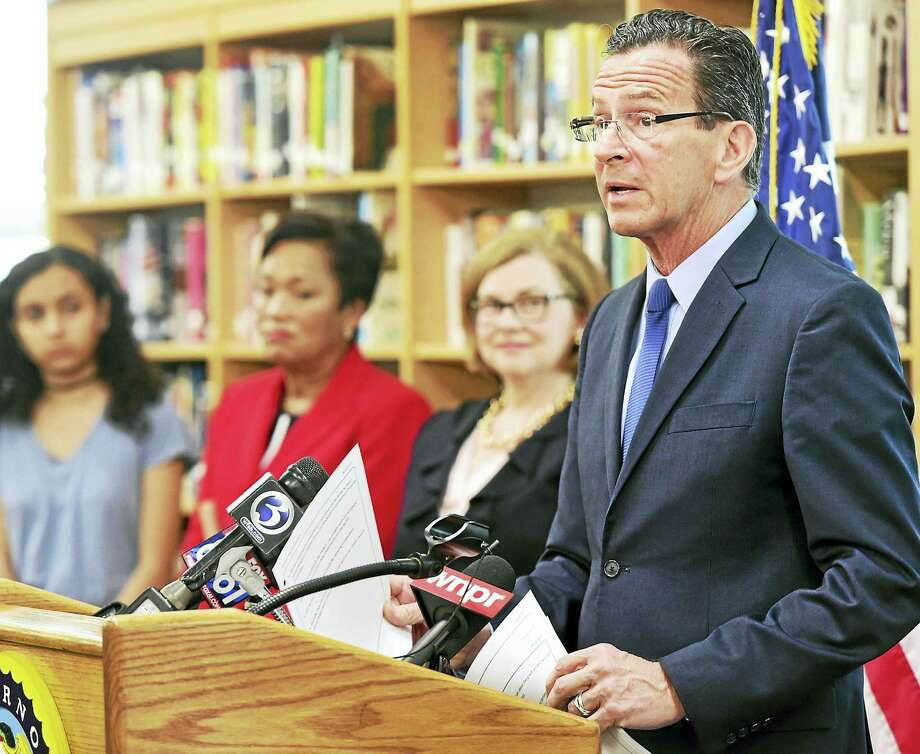 Governor Dannel P. Malloy and state Department of Education Commissioner Dianna R. Wentzell announced that the state's official graduation rate reached an all-time high during the 2016 school year, during a press conference at James Hillhouse High School Monday in New Haven. Photo: Peter Hvizdak — New Haven Register   / ©2017 Peter Hvizdak