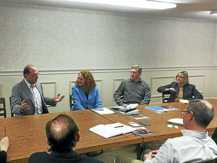 U.S. Rep. Elizabeth Esty met with members of the local business community Monday in Thomaston. Owners and town officials discussed numerous concerns with Esty, including taxation, the Affordable Care Act, and the cost of running a business in the state. Photo: Ben Lambert — The Register Citizen