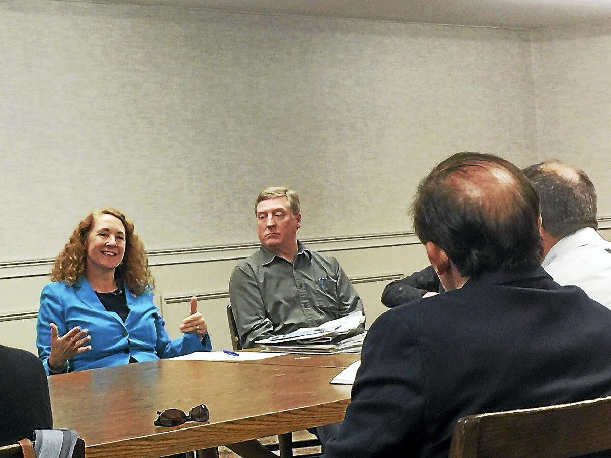 U.S. Rep. Elizabeth Esty met with members of the local business community Monday at the Thomaston.