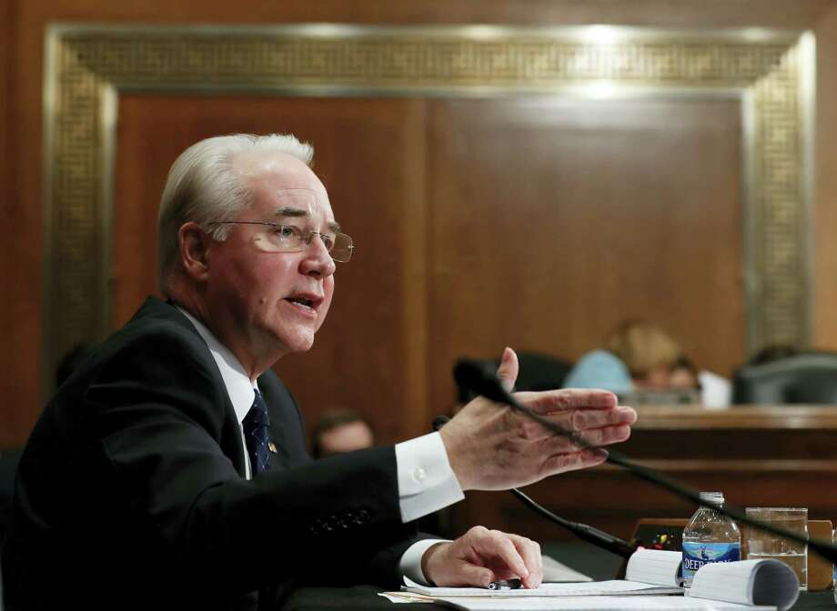 In this Jan. 18, 2017 file photo, then-Health and Human Services Secretary-designate, now Secretary Tom Price, testifies on Capitol Hill in Washington. The Trump administration took steps Wednesday, Feb. 15, 2017,  intended to help calm jittery insurance companies and make tax compliance with former President Barack Obama's health law less burdensome for some people. Photo: AP Photo/Carolyn Kaster   / Copyright 2017 The Associated Press. All rights reserved.