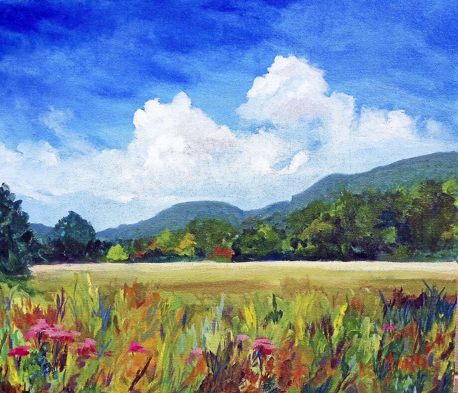 """Across the Meadow"" by West Simsbury resident Deborah Leonard. Photo: Contributed Photos"