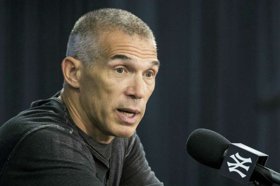 New York Yankees manager Joe Girardi speaks with members of the media during a news conference at the team's baseball spring training facilities, Tuesday in Tampa, Fla. Photo: MATT ROURKE - THE ASSOCIATED PRESS  / Copyright 2017 The Associated Press. All rights reserved.
