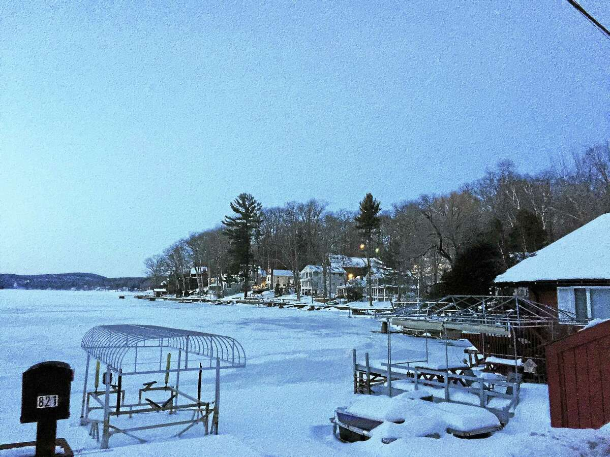 The portion of Highland Lake behind 819-821 East Wakefield Boulevard, as seen Tuesday.