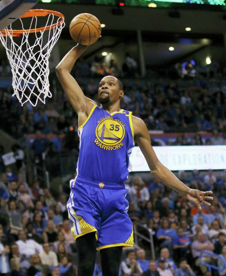 Golden State Warriors forward Kevin Durant. Photo: The Associated Press File Photo  / AP2017