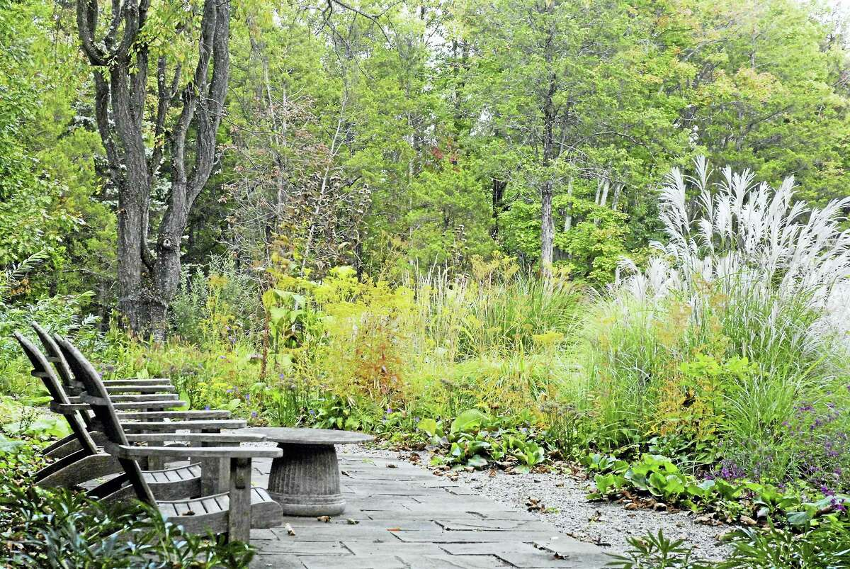 A springtime garden, which will be part of a program presented by expert and author Tovah Martin at the Minor Memorial Library in Roxbury on Saturday.