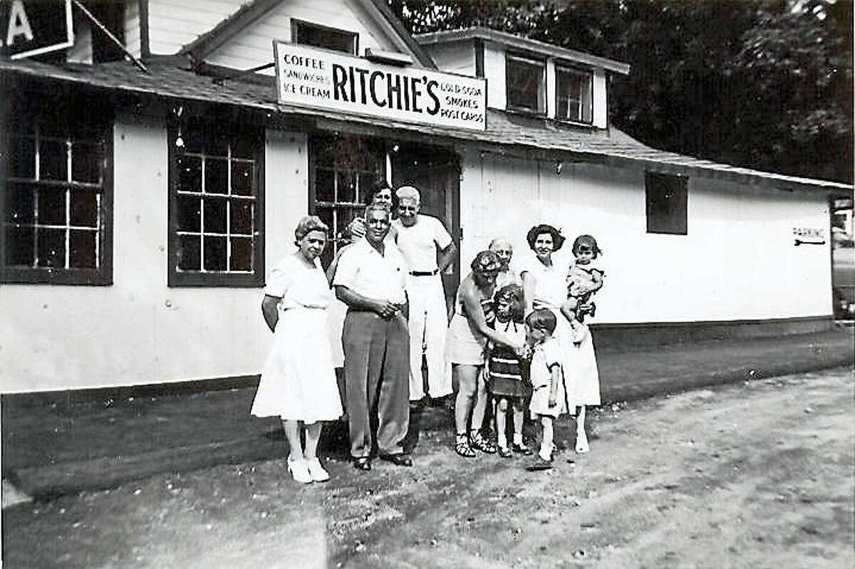 """The photo is the Cavallaro Family at """"Ritchie's"""", New Preston, CT, circa 1950, photograph courtesy of Linda Ajello."""