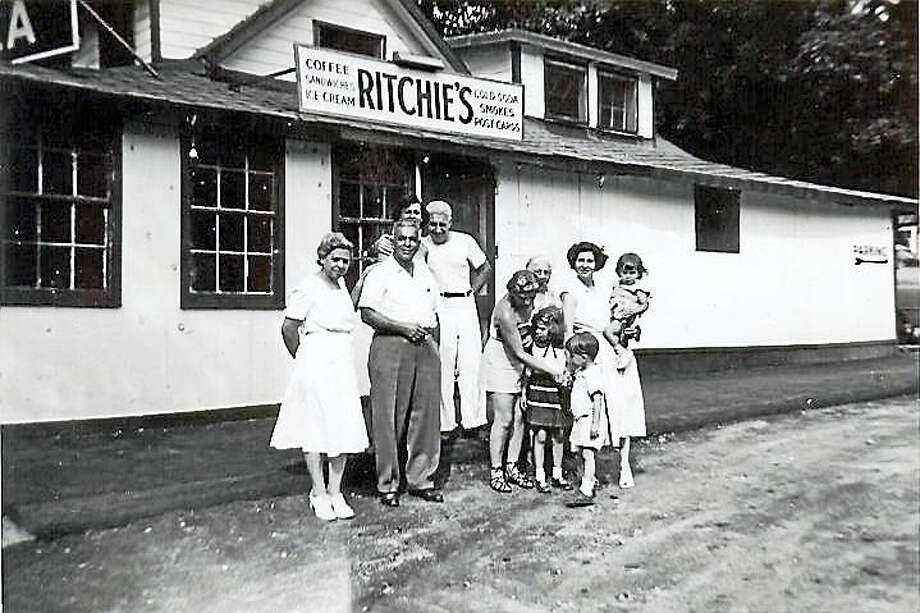 "The photo is the Cavallaro Family at ""Ritchie's"", New Preston, CT, circa 1950, photograph courtesy of Linda Ajello. Photo: Contributed Photo"