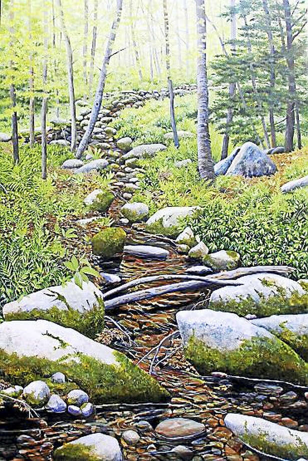 """The Watertown Art League will be hosting a live demonstration by Professional Artist,  Laura Eden,  Monday April 10th at 7pm at the First Congregational Church Hall, 40 DeForest St. in Watertown. The demonstration is free and open to the public .      Laura J. Eden was born in Hartford Ct and has been passionate about her art since she was a small child. Art is in her roots.  Laura's grandmother, Louise Powers Slayden, was an accomplished artist in her own right. Laura had the good fortune to study privately with her spending summers in her Old Saybrook studio painting furiously. Laura went to Watkinson School for high school which nurtured her artistic talents and allowed her to achieve 15 college credits from the Hartford Art School while still in high school. She then studied art at Syracuse University and the University of Connecticut, receiving her BFA from UCONN in 1980.  After college Laura taught art at Watkinson School and took graduate courses at the Hartford Art School during that time. She has been a full time artist ever since.    Laura has been the recipient of various awards beginning early on in college receiving """"The Most Promising Freshmen Artist Award"""" from Syracuse University. She has been a member, board member and award recipient of the Connecticut Watercolor Society and a past member of the Connecticut Women Artists. She is currently an elected member and board member of the Connecticut Plein Air Painters Society, and a member and past president of the Granby Artists Association.     After being a watercolorist for 22 years Laura switched mediums to egg tempera in 2002. Her intimate, detailed view of nature lends itself perfectly to this medium. (www.laurajeden.com/) Photo: Digital First Media"""