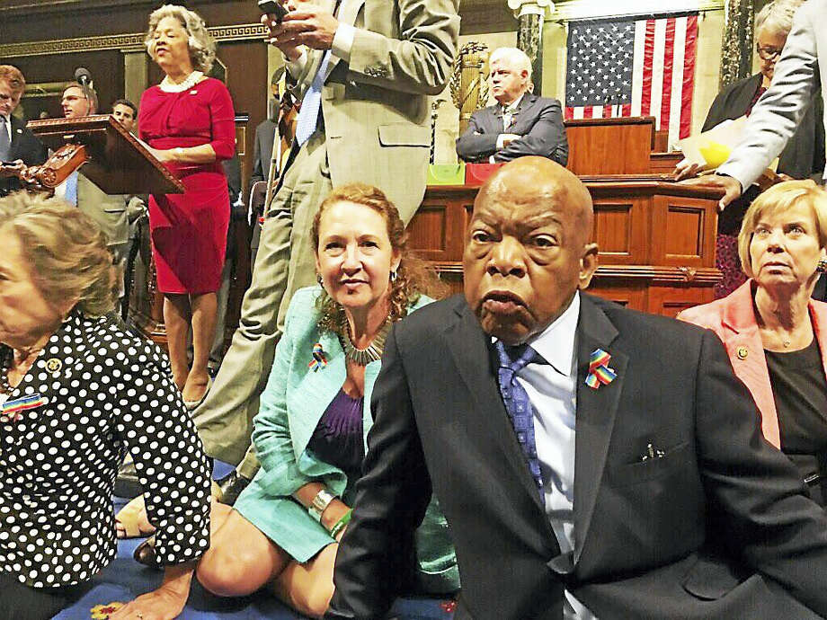U.S. Rep. Elizabeth Esty, D-Conn., center left, and other Democrats staged a takeover of the U.S. House of Representatives in 2016, demanding a vote on gun control legislation. Photo: Courtesy Of The Office Of U.S. Rep. Elizabeth Esty