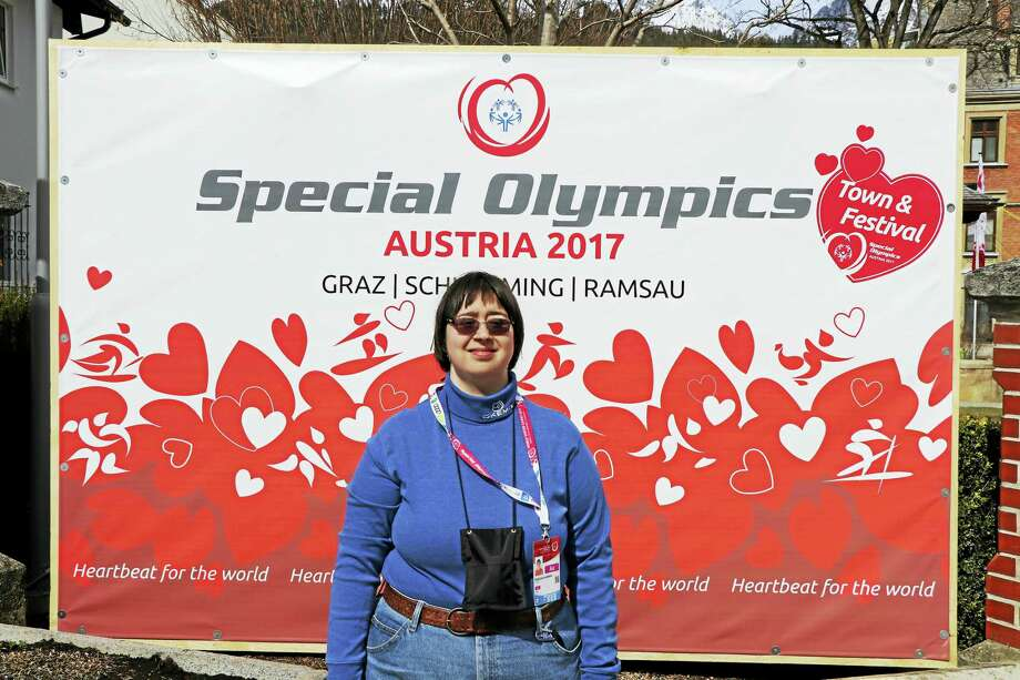 Rebecca Lamoin, a Torrington native, recently competed in the Special Olympics World Winter Games in Austria. Photo: CONTRIBUTED PHOTO