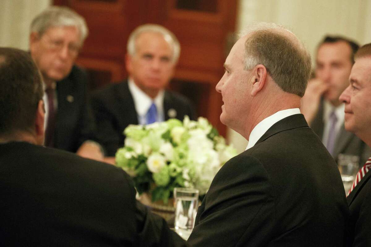 Southwest CEO Gary Kelly speaks during a meeting between President Donald Trump and airline executives in the State Dining Room of the White House in Washington Thursday.