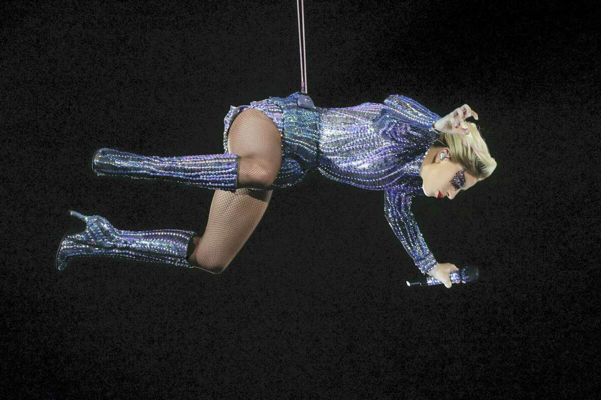 Lady Gaga performs during the halftime show of the NFL Super Bowl 51 football game between the New England Patriots and the Atlanta Falcons Sunday, Feb. 5, 2017, in Houston.