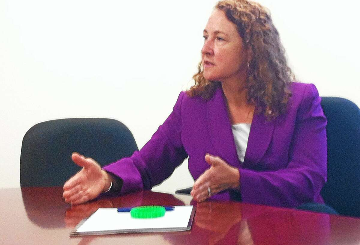 U.S. Rep. Elizabeth Esty is seen during a past editorial board with Digital First Media staff.