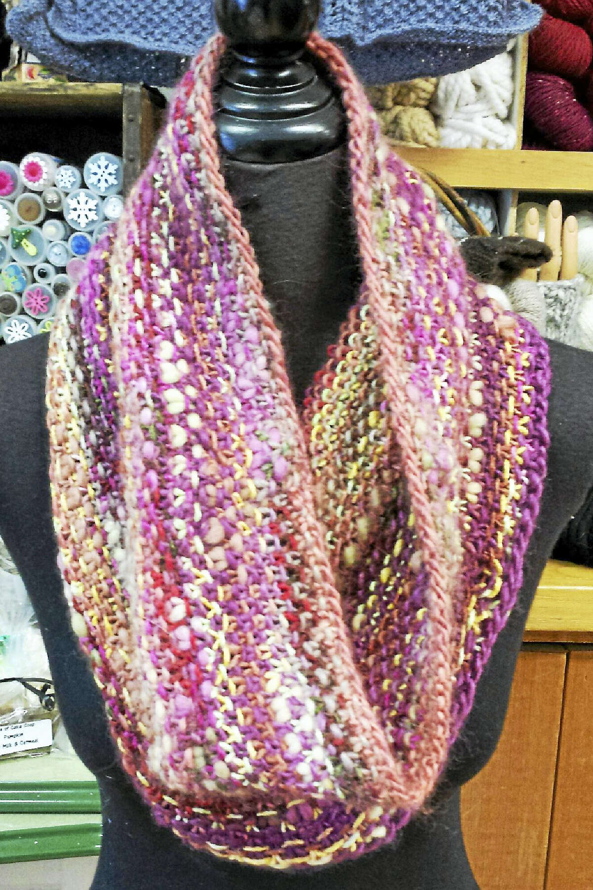 Photo by Ginger Balch Learn to make this lovely cowl at In Sheep's Clothing during a free class on Sunday.