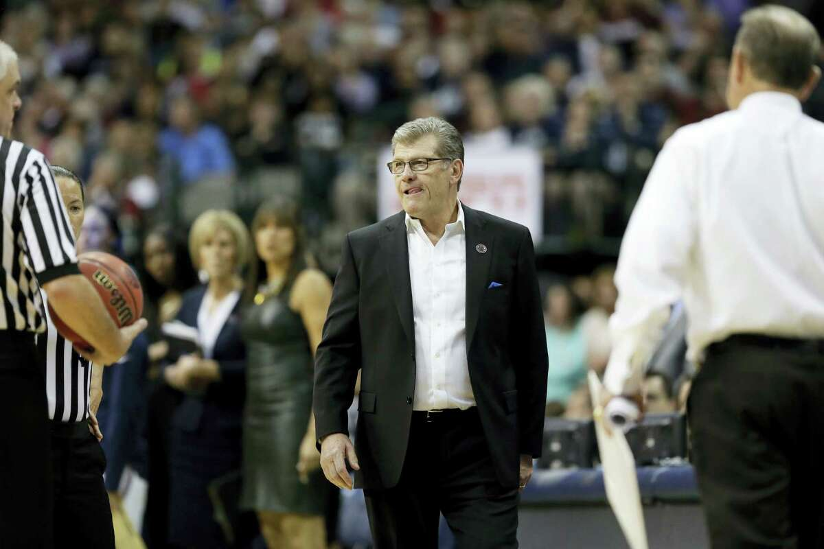 UConn coach Geno Auriemma looks on during Friday's game.