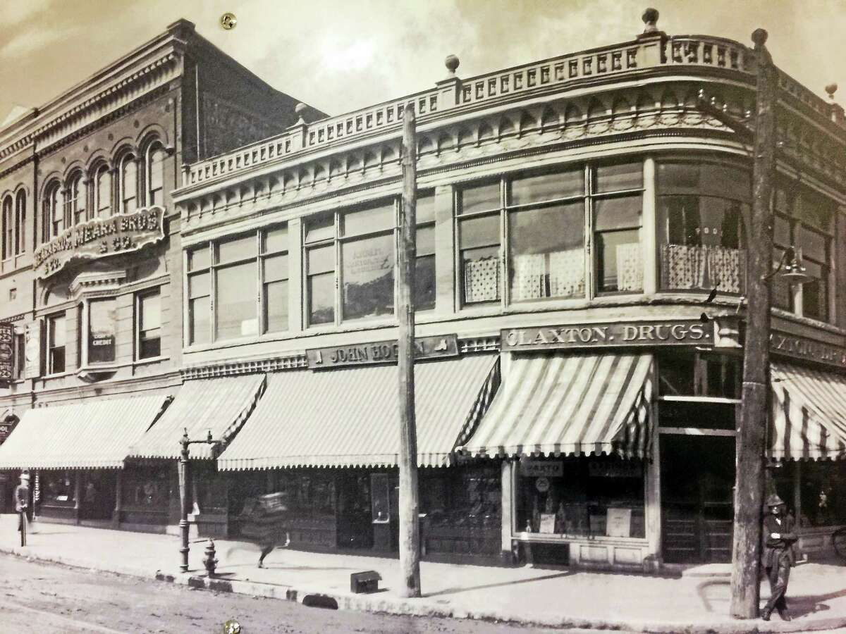 Images of Main and Water Street from about 1913, put up as part of a planned display from the Arts & Culture Commission in Torrington. The photographs will be available for public viewing.