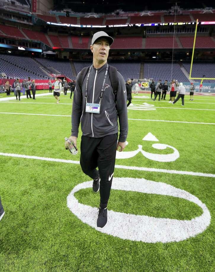 Atlanta Falcons quarterback Matt Ryan walks on the field during a visit to NRG Stadium on Saturday. Photo: Eric Gay — The Associated Press  / Copyright 2017 The Associated Press. All rights reserved.