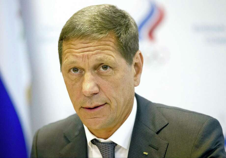 """In this July 20, 2016 photo, Russian Olympic Committee president Alexander Zhukov opens the meeting of Russia's Olympic Committee in Moscow, Russia. Russian officials say none of their athletes have returned Olympic medals after retests of their samples revealed they had doped. Russian Olympic Committee president Alexander Zhukov says his organization, which would usually handle medal transfers, hasn't received any, calling it """"not an easy process."""" Photo: AP Photo/Alexander Zemlianichenko, File  / Copyright 2017 The Associated Press. All rights reserved."""