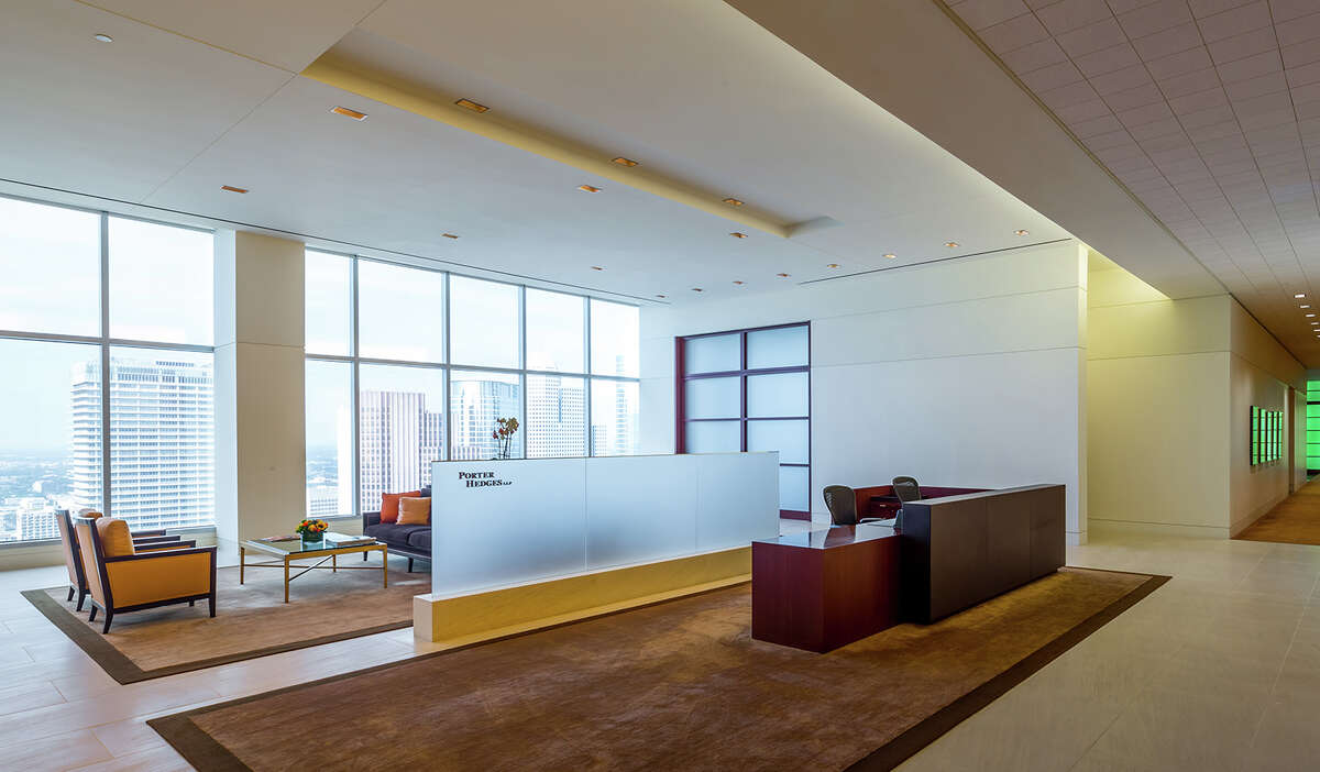 Houston-based law firm Porter Hedges holds 12.5 percent of the space at the 36-story 1000 Main building.