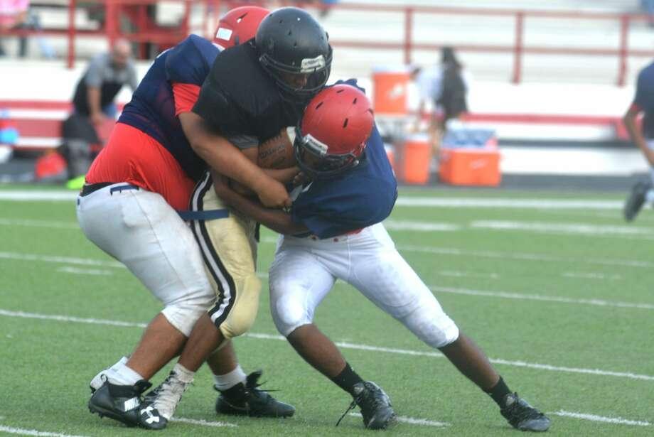 Plainview junior varsity football vs. Lubbock High scrimmage photos. Photo: Skip Leon/Plainview Herald
