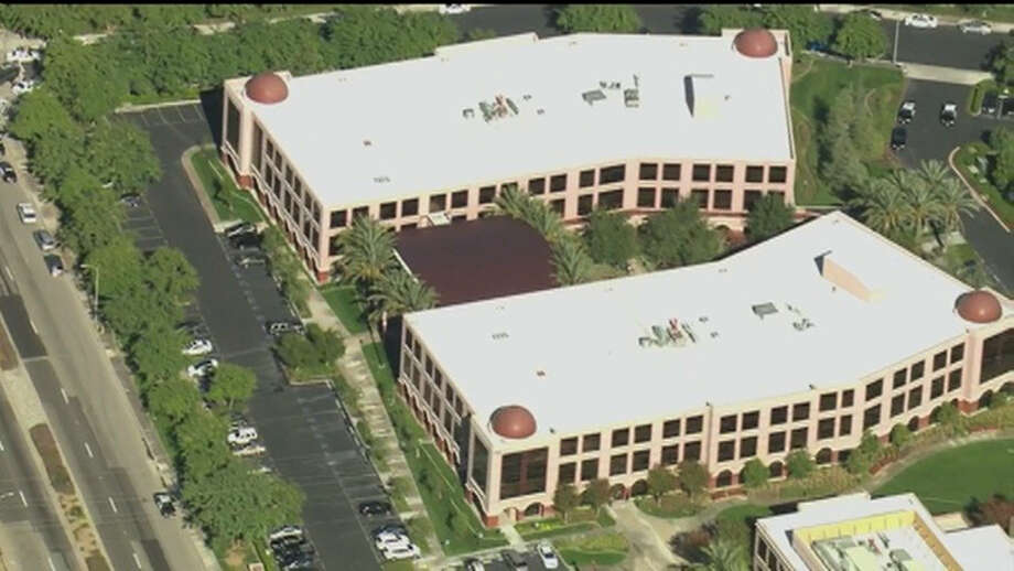 This aerial view shows a Southern California social services center in San Bernardino, Calif.,  where authorities said multiple people were shot Wednesday, Dec. 2, 2015. Photo: KTTV Via AP / KTTV TV