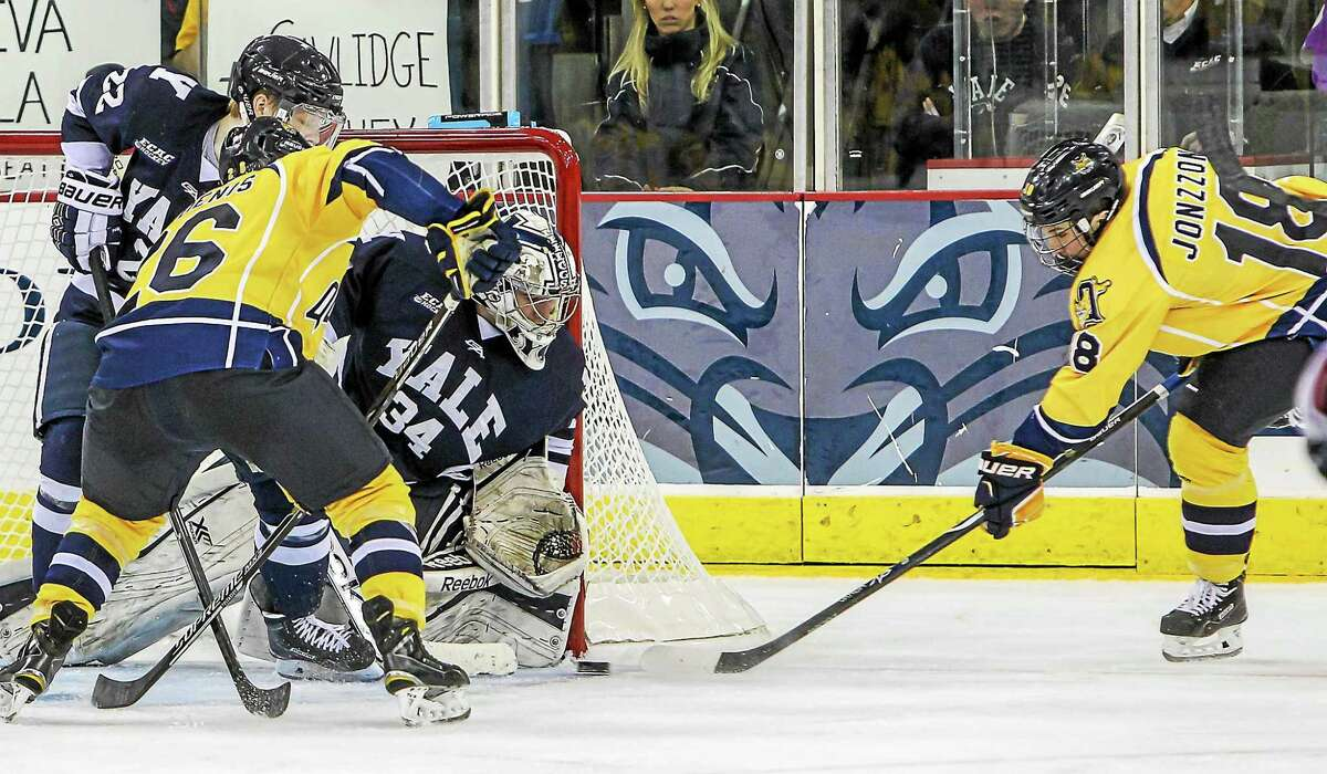 Quinnipiac and Yale are doing battle tonight in New Haven.
