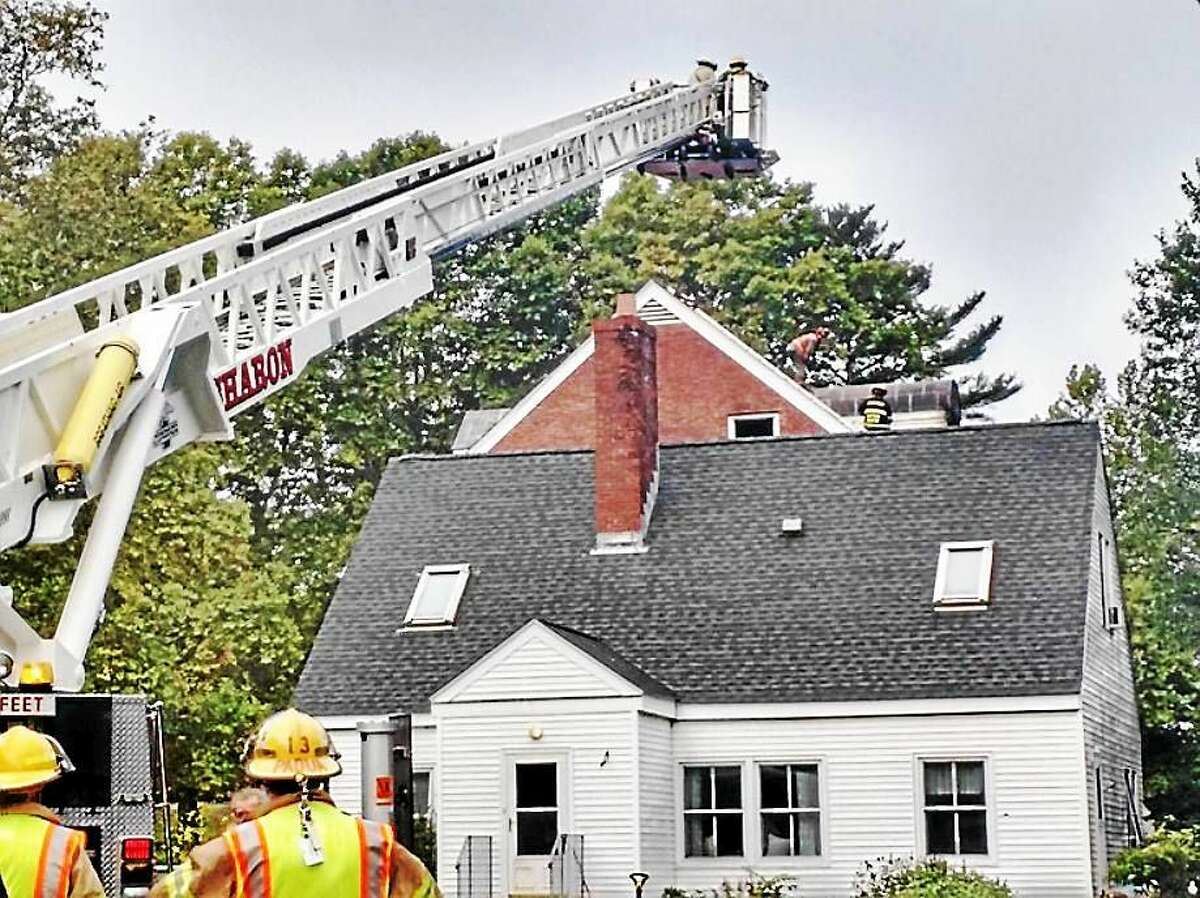 Fire crews from several Litchfield County towns responded Wednesday morning after a fire broke out in a dormitory at The Hotchkiss School in Lakeville. The blaze was contained to the dorm and its contents.