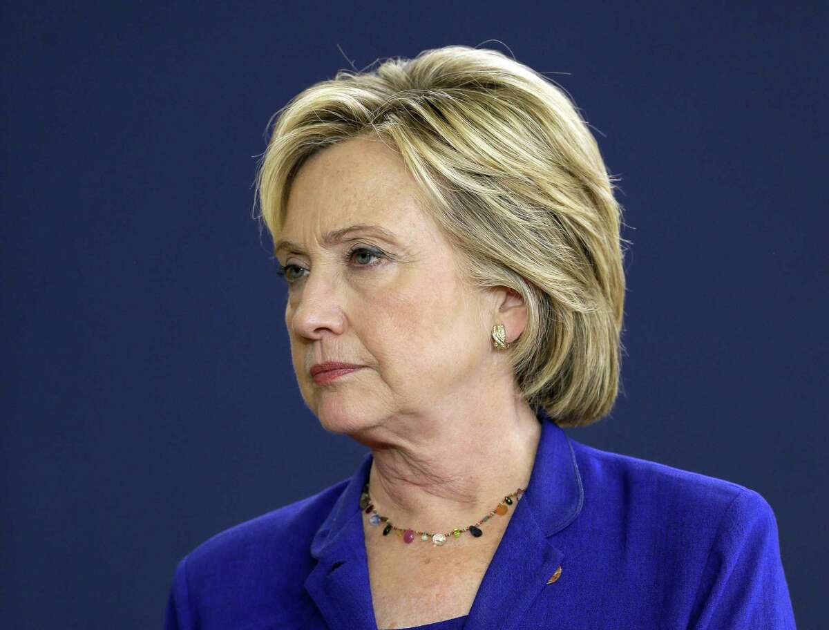 In this Sept. 22, 2015, file photo, Democratic presidential candidate Hillary Rodham Clinton speaks in Des Moines, Iowa. The State Department will publish Wednesday about 6,000 additional pages of Hillary Rodham Clintonís emails, covering a timespan when U.S. diplomacy was rocked by the leaking of thousands of confidential cables by the anti-secrecy website WikiLeaks and the outbreak of the Arab Spring.