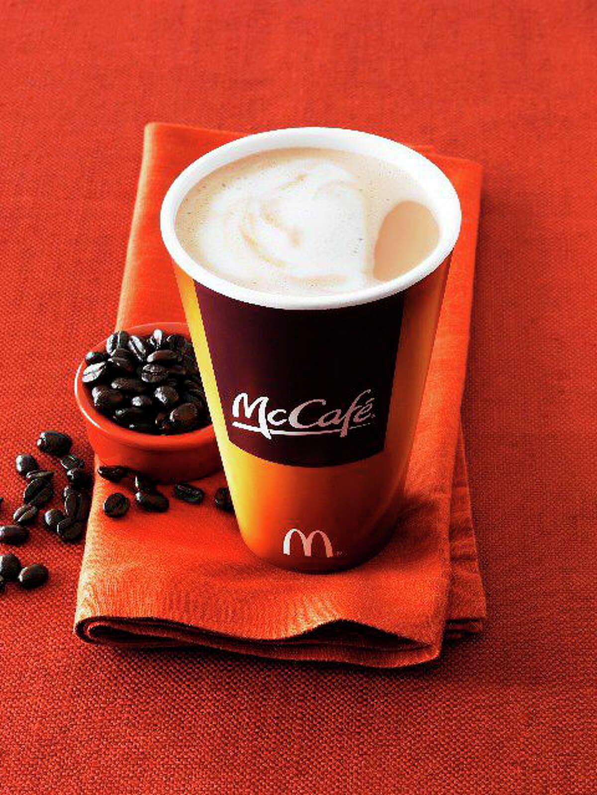 McCafe Latte on napkin