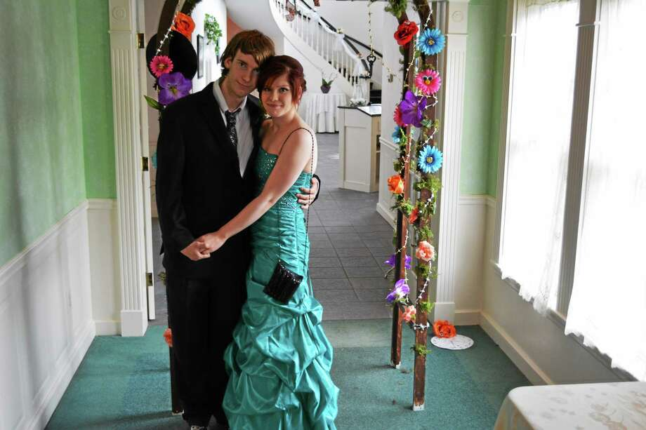 Students at the 2015 Explorations Charter School prom, which was held at the Crystal Peak in Winchester. Photo: BEN LAMBERT — The Register Citizen