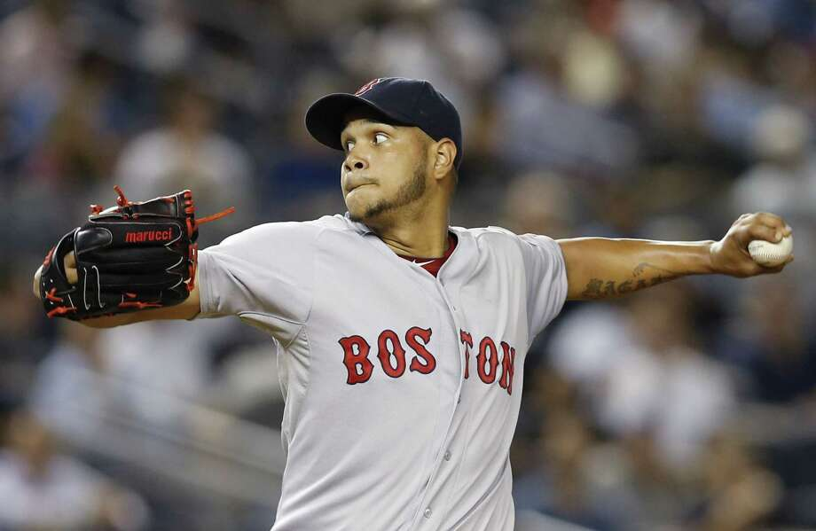 Eduardo Rodriguez delivers a pitch in the fourth inning of Sunday's game at Yankee Stadium. Photo: Kathy Willens — The Associated Press  / AP
