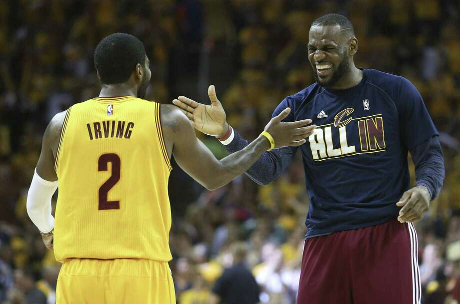 LeBron James, Kyrie Irving and the Cleveland Cavaliers will take on the Golden State Warriors in the NBA Finals. Photo: Ron Schwane — The Associated Press  / FR78273 AP