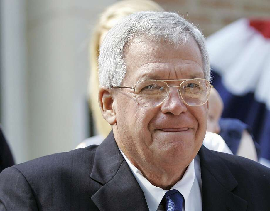 FILE - In this Aug. 17, 2007, file photo, former House Speaker Dennis, Hastert, R-Ill., announces that he will not seek re-election for a 12th term in Yorkville, Ill. Federal prosecutors have indicted Thursday, May 28, 2015, the former U.S. House Speaker on bank-related charges. (AP Photo/Brian Kersey, File) Photo: AP / AP