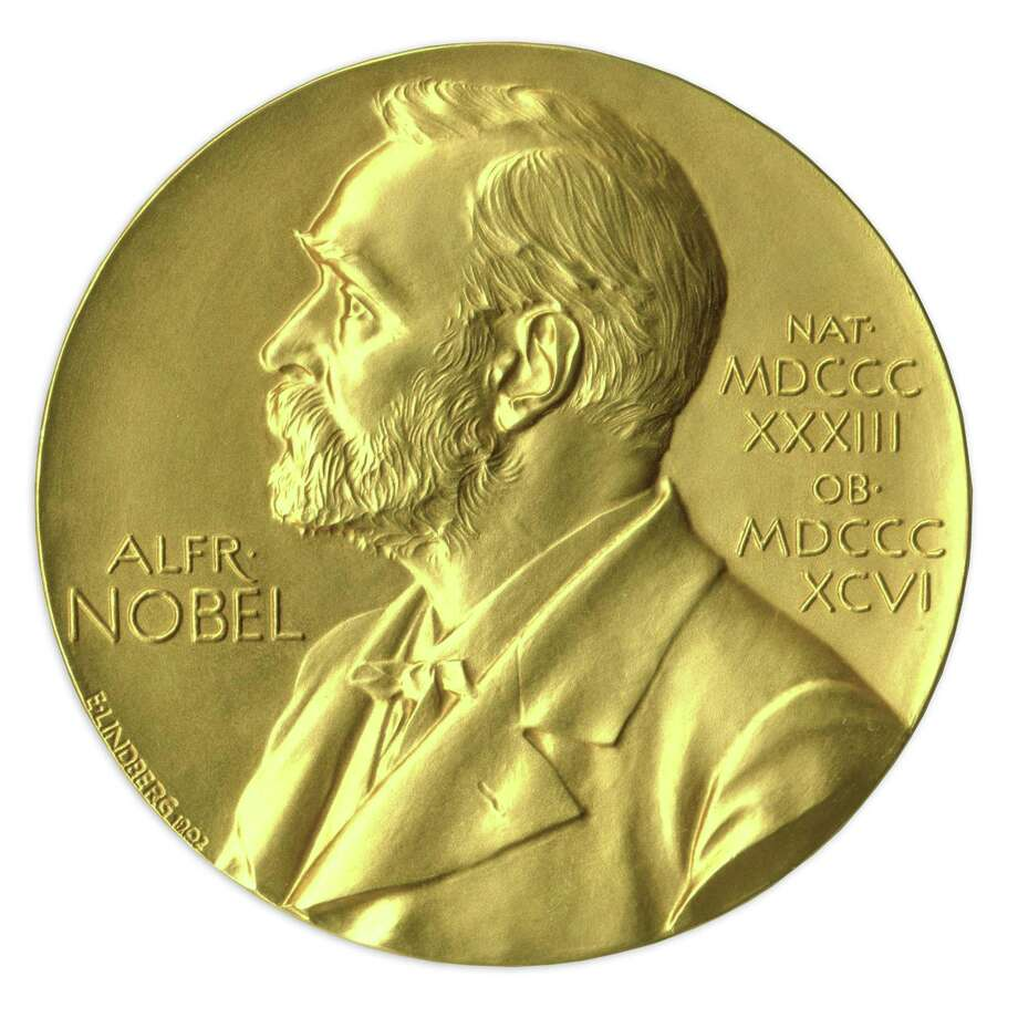 In this undated image provided by Nate D. Sanders Auctions, shows the obverse of the 1988 Nobel Prize in Physics awarded to Dr. Leon Lederman. The award put up for auction by the retired experimental physicist has sold for $765,002 USD.  The online auction went into overtime Thursday, May 28, 2015,  until a final bid went unchallenged for half an hour. Nate D. Sanders Auctions spokesman Sam Heller says the final amount is the fourth-highest ever paid among the 10 Nobel Prizes that have been sold at auction. The 92-year-old has said he decided to sell the prize because it has just been sitting on a shelf.  (Amanda Hart, Nate D. Sanders Auctions via AP) Photo: AP / Nate D. Sanders Auctions