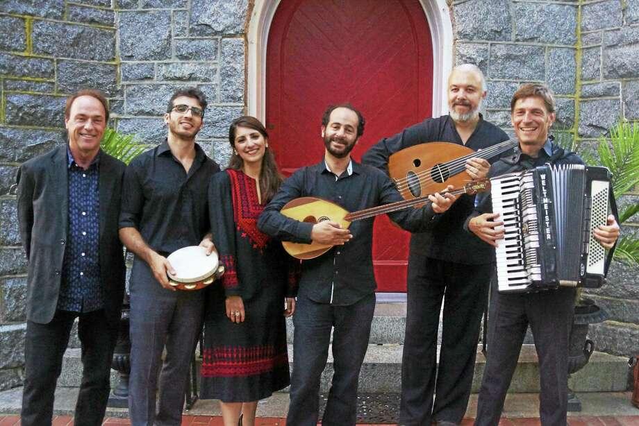 Ramzi Aburedwan, center, and the Dal'Ouna Ensemble. Photo: Contributed